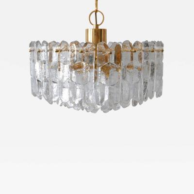 Kalmar Franken KG Large 13 Flamed Ice Glass Chandelier or Pendant Lamp Palazzo by Kalmar Franken