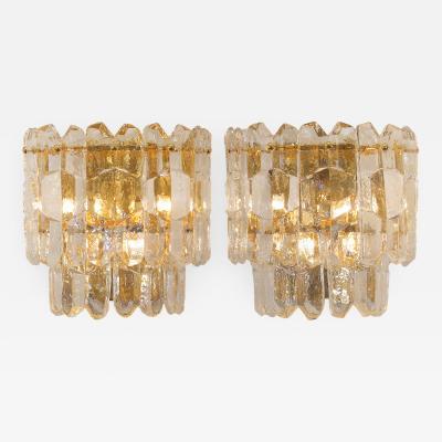 Kalmar Lighting Massive Kalmar Palazzo Ice Crystal Sconces