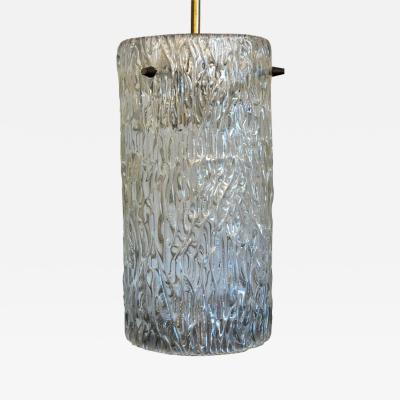 Kalmar Lighting Mid Century Modern Austrian Kalmar Textured Crystal Brass Pendant Chandelier