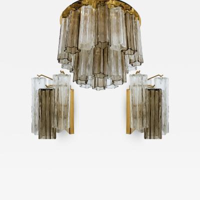 Kalmar Lighting Set of J T Kalmar Murano Glass Light Fixtures Austria 1960
