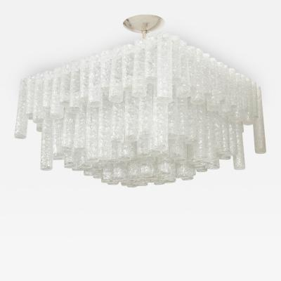 Kalmar Tiered Ice Inspired Glass Chandelier