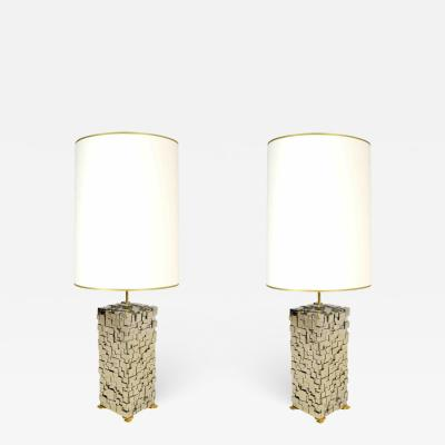 Kam Tin Pair of pyrite lamps