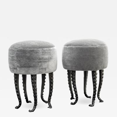 Kam Tin Pair of stools Octopus