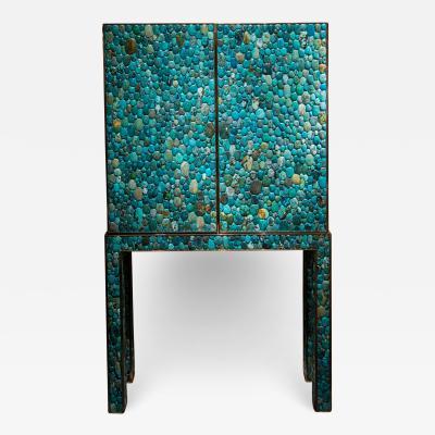 Kam Tin Turquoise bar cabinet