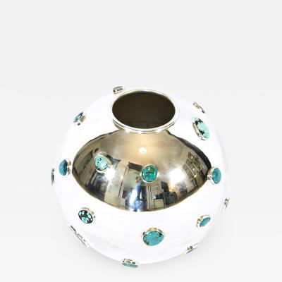 Kam Tin Turquoise vase by KAM TIN