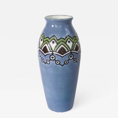Karlsruher Majolika Majolika Art Deco Vase Germany 1925