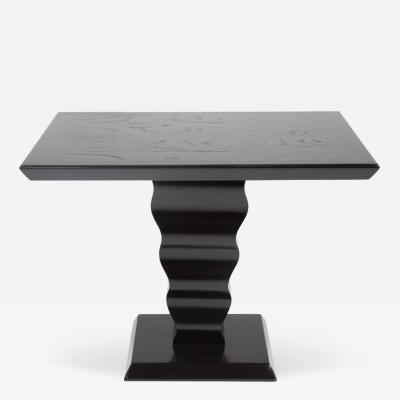 Karpen of California Elegant Ebonized Art Deco Occasional Table by Karpen