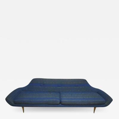 Karpen of California Fabulous Space Age Karpen Style Gondola Sofa Mid Century Modern