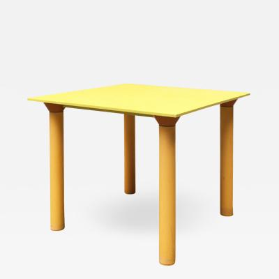 Kartell Plastic yellow table by Kartell 1970s