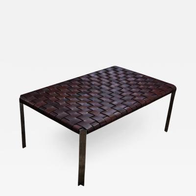 Katavolos Littel Kelly A Mid Century designed bench in dark brown leather