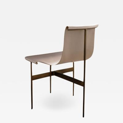 Katavolos Littel Kelly A Mid Century designed chair light parchment with medium antique bronze finish