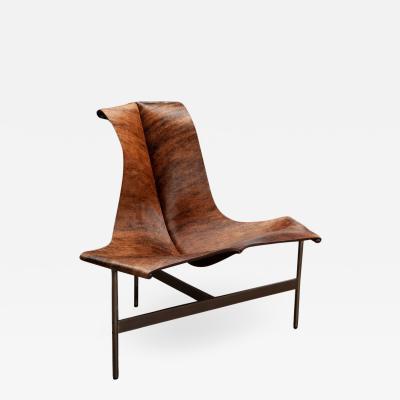 Katavolos Littel Kelly A Mid Century designed lounge chair brown and black hair