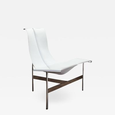 Katavolos Littel Kelly A Mid Century designed lounge chair white shagreen leather