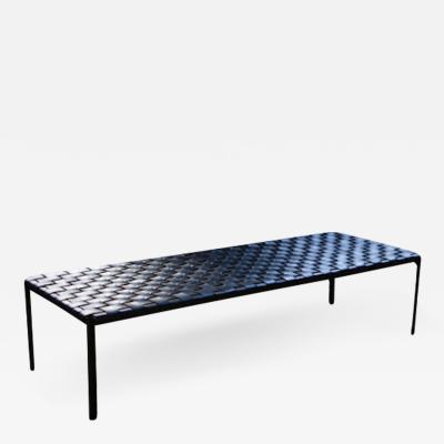Katavolos Littel Kelly A Mid century designed bench in black leather