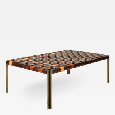 Katavolos Littel Kelly A Mid century designed bench in multicolor straps