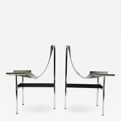 Katavolos Littel Kelly Pair of T Chairs by William Katavolos Littell and Kelly