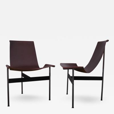 Katavolos Littel Kelly Pair of T Side Chairs by Katavolos Littell Kelley for Laverne International