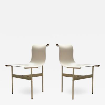 Katavolos Littel Kelly Set of 2 Mid century designed chairs doral cream leather