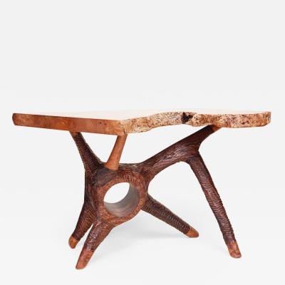 Keep Furniture Big Leaf Maple Burl Accent Table 2