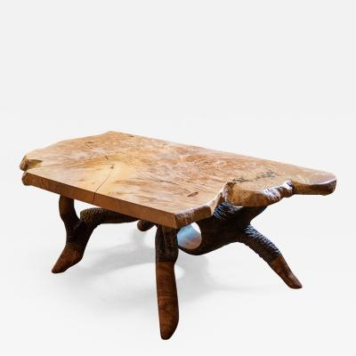 Keep Furniture Big Leaf Maple Burl Coffee Table