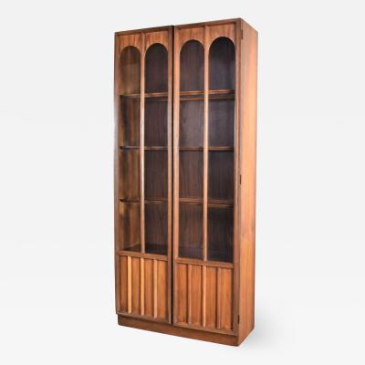 Keller Manufacturing Keller furniture mcm lighted display cabinet bookcase