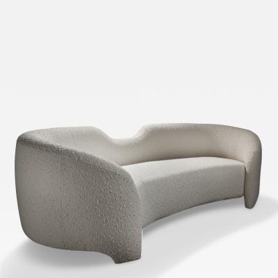 Kimberly Denman Inc EMBRASSE CURVED SOFA UPHOLSTERED IN KIMBERLY DENMAN INC NUAGE FABRIC
