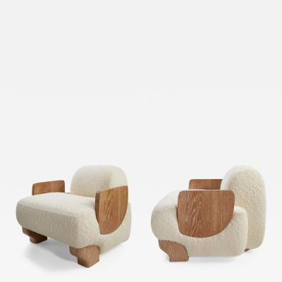 Kimberly Denman Inc PAIR OF GRATITUDE ARMCHAIRS UPHOLSTERED IN NUAGE FABRIC
