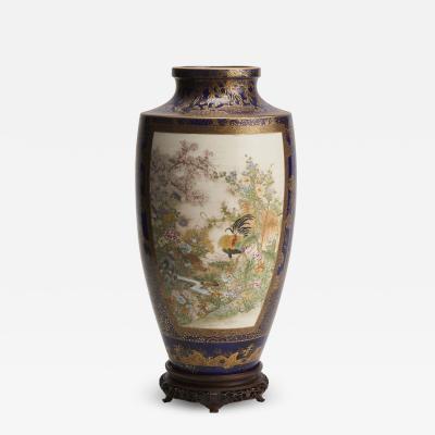 Kinkozan A large Japanese Meiji Period Satsuma vase by Kinkozan