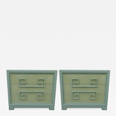 Kittinger Furniture Co Kittinger Greek Key Chests pair