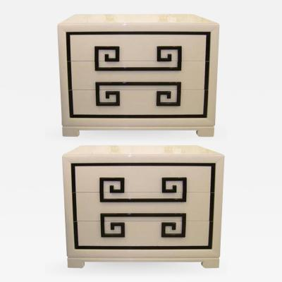 Kittinger Furniture Co Pair of Ivory Lacquer Chests