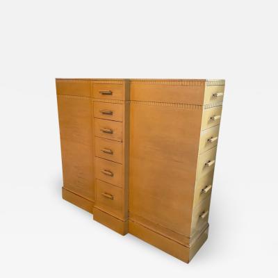 Kittinger Furniture Co RARE ART DECO MULTI DRAWER LINGERIE CHEST BY KITTINGER