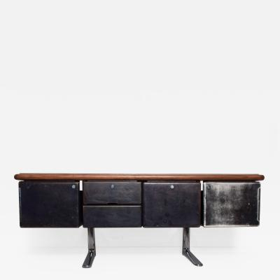 Knoll 1960s Massive Executive Leather Sideboard Credenza by Warren Platner for KNOLL
