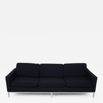 Knoll Black and Chrome Sofa by Jack Cartwright