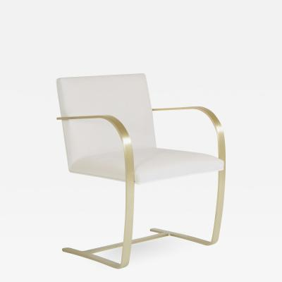 Knoll Brno Flat Bar Chairs in Cr me Velvet Brushed Brass