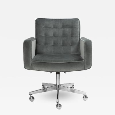 Knoll Cafiero Executive Task Chair in Graphite Velvet by Vincent Cafiero for Knoll