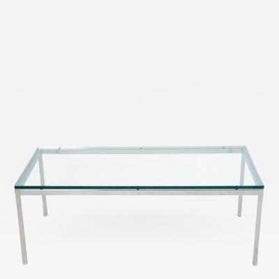 Knoll Contemporary chrome Florence Knoll coffee table