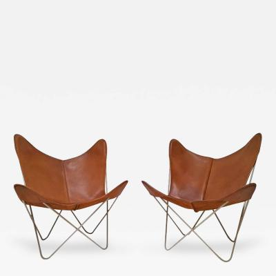 Knoll Early Pair of Hardoy Butterfly Sling Chairs for Knoll International