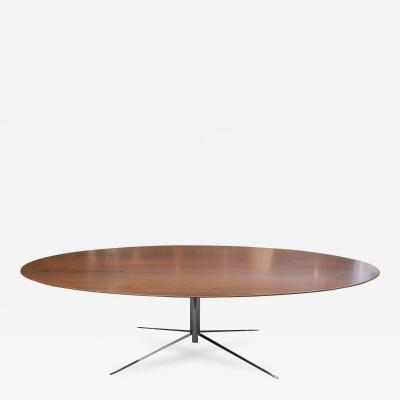 Knoll Florence Knoll Rosewood Oval Dining Table