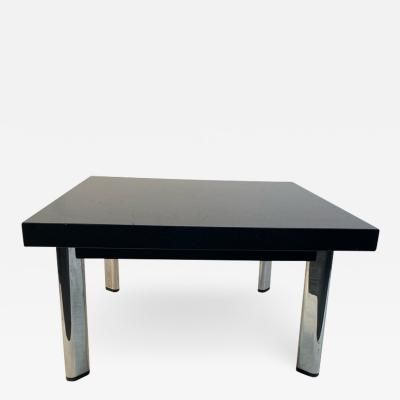 Knoll International BLACK GRANITE AND CHROME COFFEE TABLE BY KNOLL