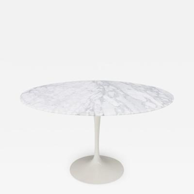 Knoll International Eero Saarinen Tulip Dining Table with White Marble Top Knoll Internationa