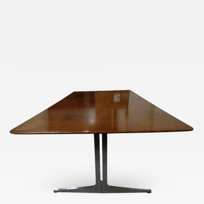 Knoll International Exceptionnelle grande table ou bureau en loupe damboine Knoll International