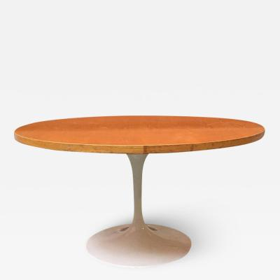 Knoll International Oak rounded top tulip table 1960s