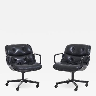 Knoll International Pair Knoll Pollak desk chairs 1960