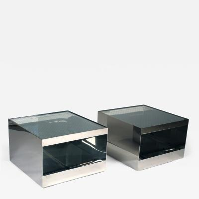 Knoll International Pair of Low Rolling Tables by Joseph DUrso for Knoll International
