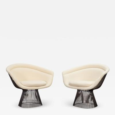 Knoll International Pair of Warren Platner Bronze Lounge Chairs