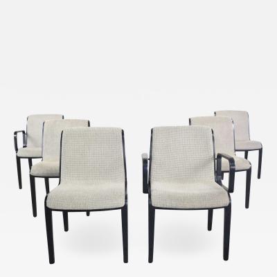 Knoll International Vintage mid century modern knoll 1300 series dining chairs set 6 black