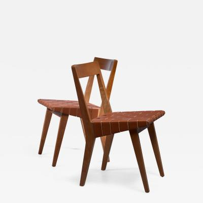 Knoll Jens Risom pair of webbed chairs for Knoll