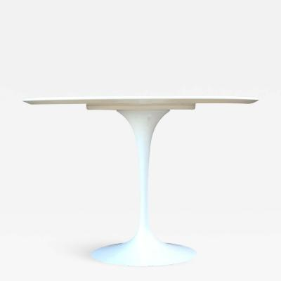 Knoll KNOLL Saarinen Italian Outdoor Modern Pedestal Patio Dining Table in White