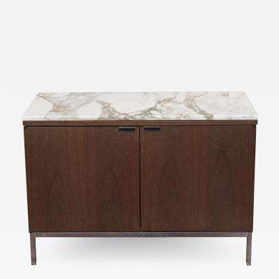 Knoll Knoll Marble Top Walnut Credenza