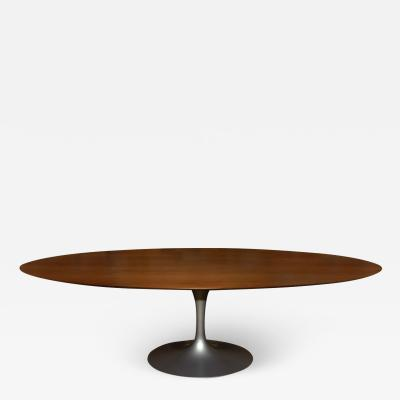 Knoll Oval Walnut Top Dining Table by Saarinen for Knoll